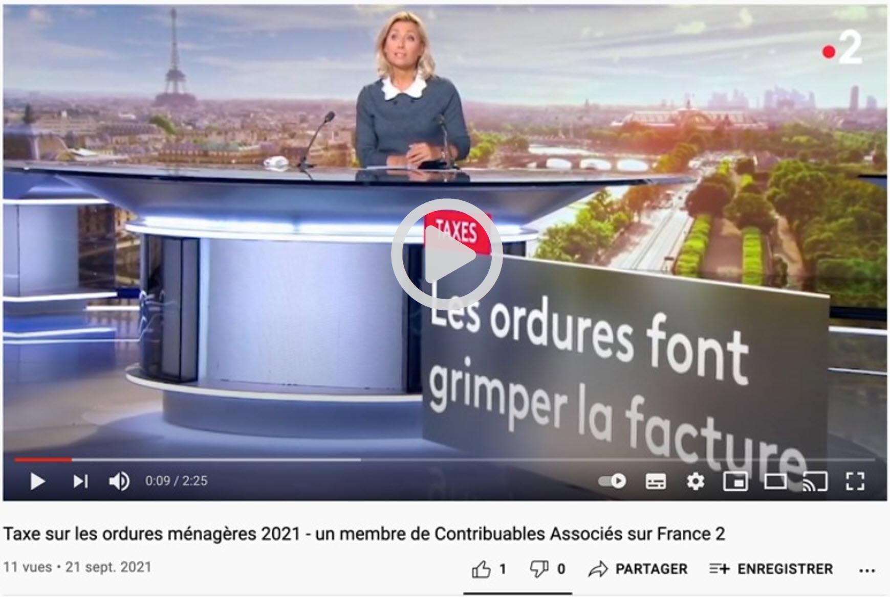 Vidéo France2 - Taxes ordures ménagères